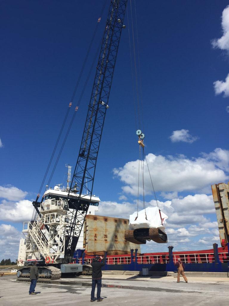 Cargo loading at Salem